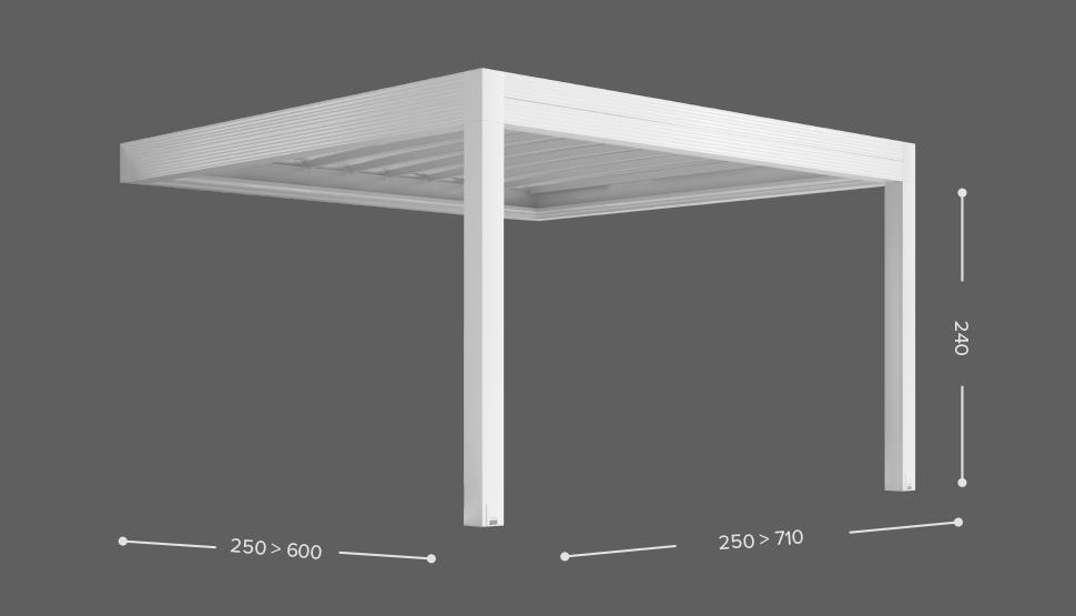 ZENIT - Stenska izvedba ( bočno zlaganje ostrešja ) - 2 stebra