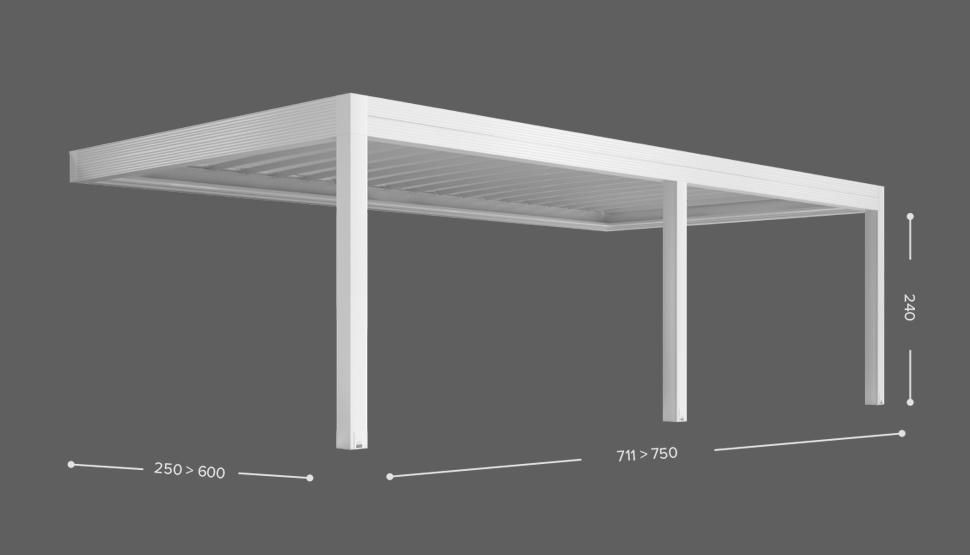 ZENIT - Stenska izvedba ( bočno zlaganje ostrešja ) - 3 stebri
