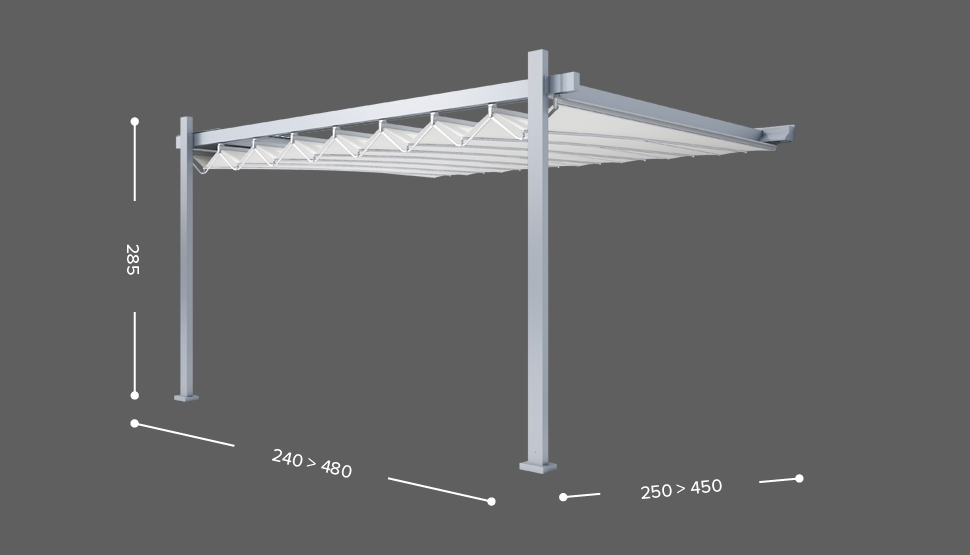 FLY - Stenska izvedba ( bočno zlaganje ) - 2 stebra
